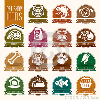 Free Pet, Vet, Pet Shop Icon Set Stock Photography - 51894372