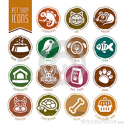Free Pet, Vet, Pet Shop Icon Set Stock Photos - 55217503