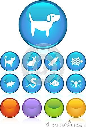 Pet web buttons - round
