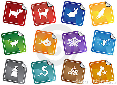 Pet web buttons - sticker