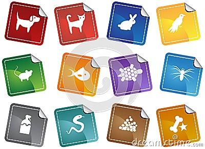 Pet web buttons - sticker