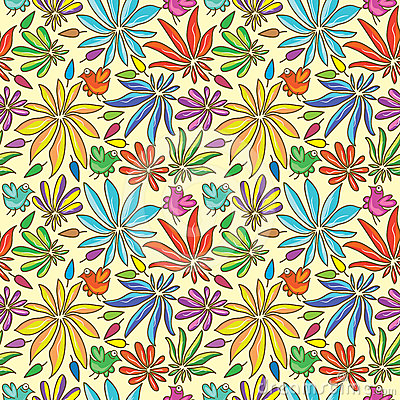 Petal Colors Half Seamless Pattern_eps
