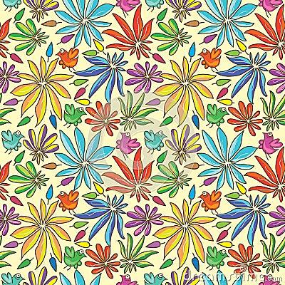 Petal Colors Half Seamless Pattern_eps