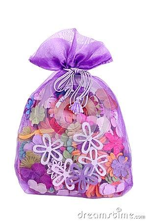 Petals in bag