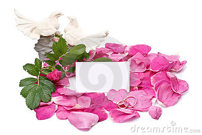 Petals, figurine and blank card