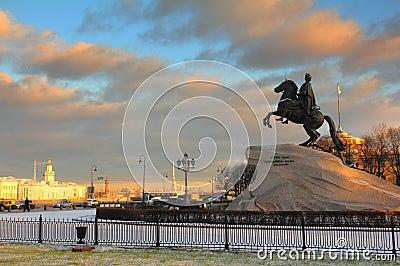 Peter 1 monumento en St Petersburg