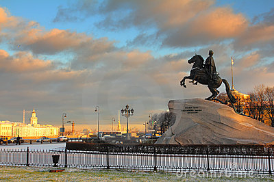 Peter 1 monumento a St Petersburg