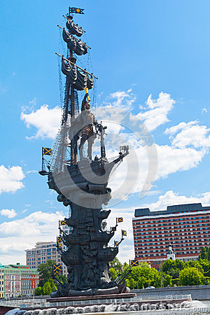 Peter the Great Statue in Moscow Editorial Photography