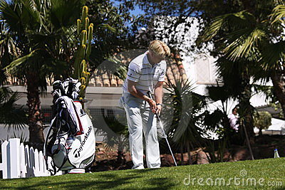 Peter Hedblom at Andalucia Golf Open, Marbella Editorial Photo