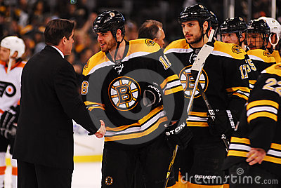 Peter Laviolette and Nathan Horton Editorial Stock Photo