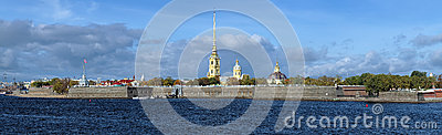 Peter and Paul Fortress in Saint Petersburg