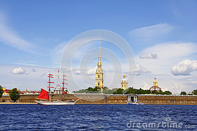 Peter and Paul fortress. Saint-Petersburg, Russia