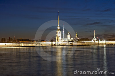 The Peter and Paul Fortress in St.-Petersburg