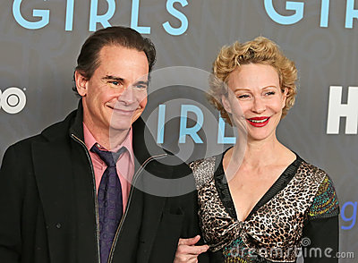 Peter Scolari and Becky Ann Baker Editorial Photo