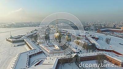 Peter-und Paul-Festung, St Petersburg stock video footage