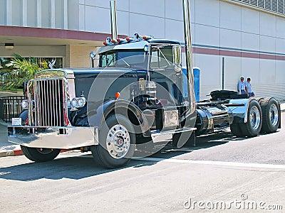 Peterbilt ciężarówka Obraz Editorial