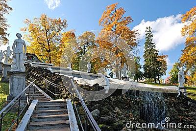 Peterhof. Cascade Chess Mountain