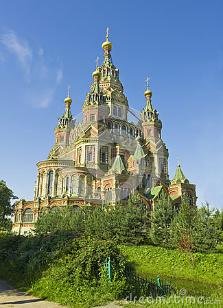 Peterhof, cathedral of St. Peter and St. Pavel