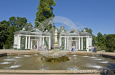 Peterhof, fountain Editorial Photo