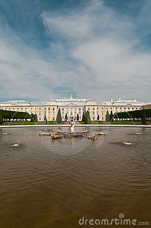 Peterhof Grand Palace in Saint-Petersburg, Russia