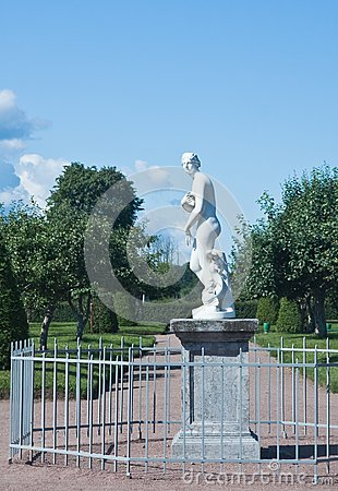 Peterhof. Lower Park. Sculpture of Venus. Russia