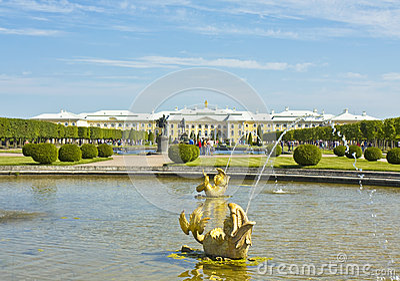 Peterhof, Rusland Redactionele Afbeelding