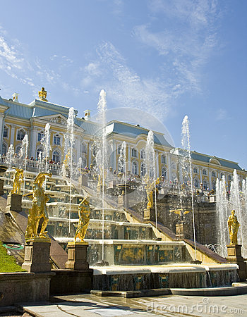 Peterhof, Russia Editorial Stock Photo