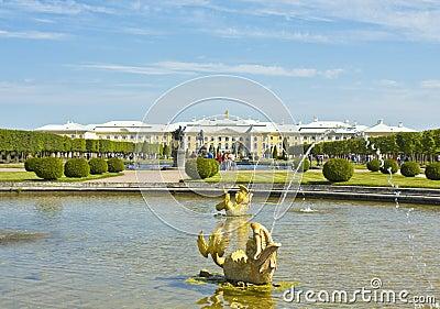 Peterhof Ryssland Redaktionell Foto