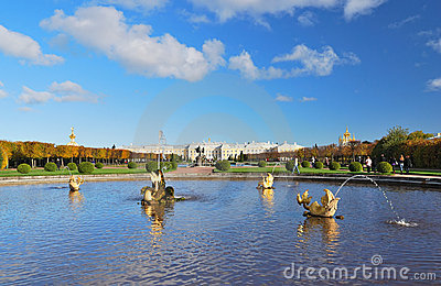 Peterhof, St. Petersburg. The Upper Park