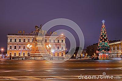 Petersburg, Russia on Christmas Editorial Photo