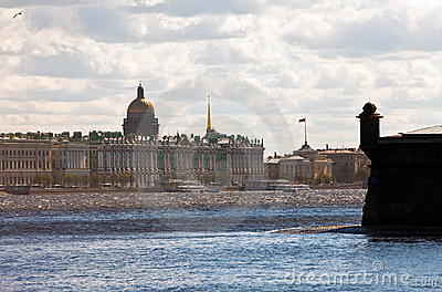 Petersburg. A view on the Hermitage
