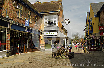 Petersfield town centre, Hampshire Editorial Stock Image