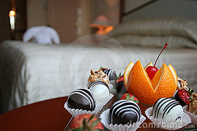 Petit four in the hotel room
