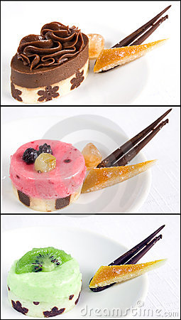 Petit fours collage