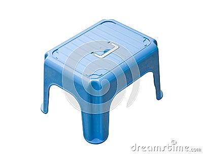 petit tabouret bleu images stock image 8087444. Black Bedroom Furniture Sets. Home Design Ideas