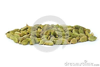 petite pile des graines vertes de cardamon image libre de. Black Bedroom Furniture Sets. Home Design Ideas