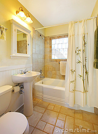 petite salle de bains avec la douche blanche moderne images libres de droits image 23666419. Black Bedroom Furniture Sets. Home Design Ideas