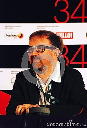 Petr Shepotinnik at press-conference Editorial Stock Photo