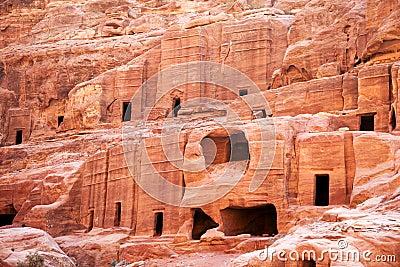 Petra, cave dwellings