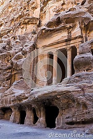 Free Petra - Jordan (Little Petra) Royalty Free Stock Image - 8786526