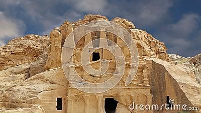 PETRA, Jordanie, Moyen-Orient -- c'est un symbole de la Jordanie, aussi bien que le ` s de la Jordanie plus-a visité l'attraction banque de vidéos