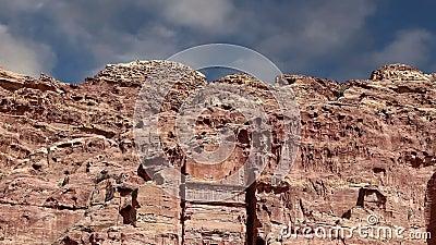Petra Jordanien, Mellanösten -- det är ett symbol av Jordanien, såväl som Jordanien` s mest-besökte den turist- dragningen stock video