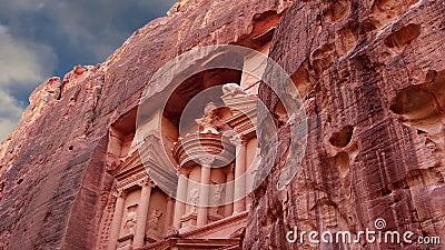 Petra Jordanien, Mellanösten -- det är ett symbol av Jordanien, såväl som Jordanien` s mest-besökte den turist- dragningen arkivfilmer