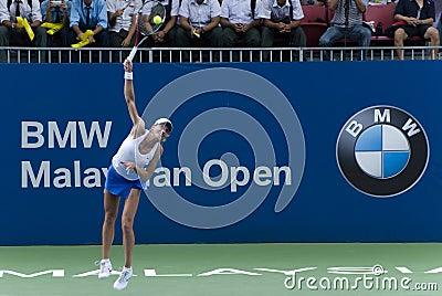 Petra Martic at WTA BMW Malaysian Open Editorial Stock Photo