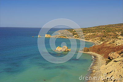 Petra tou romiou coast