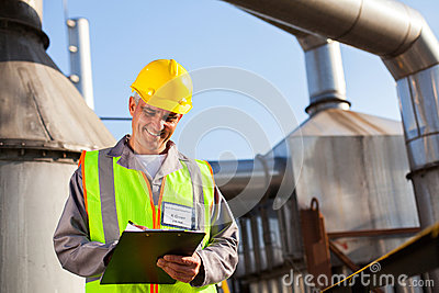 Petrochemical engineer recording