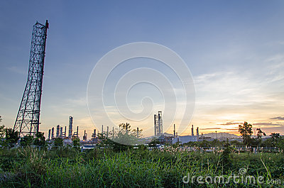 Petrochemical Plant In Thailand Royalty Free Stock Image - Image: 25904756