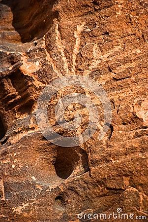 Petroglifi dell nativo americano