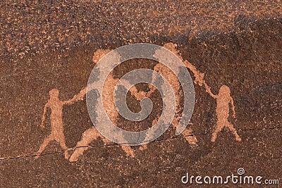 Petroglyph Rock Art Family
