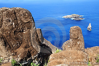 Petroglyphs on Easter Island